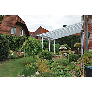 Palram Feria Polycarbonate Patio Canopy White - 6060 x 3870 mm