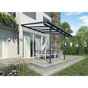 Palram Sierra Polycarbonate Patio Cover Grey - 3140 x 2950 mm