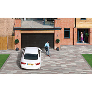 Marshalls Driveline Metro Textured Driveway Block Paving - Light Grey 480 x 130 x 80mm Pack of 108