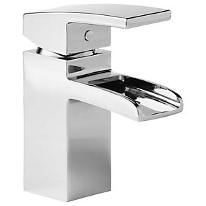 Wickes Waterfall Mono Basin Mixer Tap - Chrome