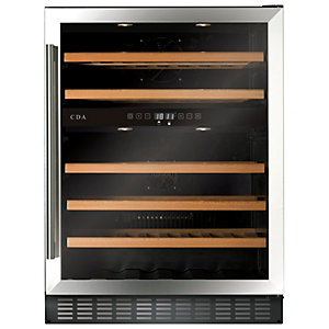 Image of CDA 600mm Stainless Steel Wine Cooler FWC604SS