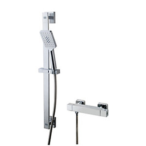 Wickes Malvern Thermostatic Mixer Shower Kit - Chrome Best Price, Cheapest Prices
