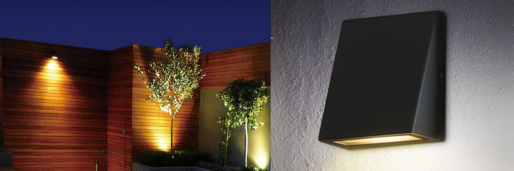 Luceco LED Grey Exterior Wedge Wall Light 3W