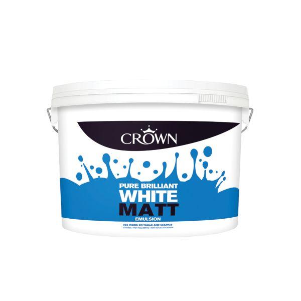 Crown Matt Emulsion Paint PBW 10L