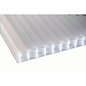 25mm Opal Multiwall Polycarbonate Sheet - 6000 x 800mm