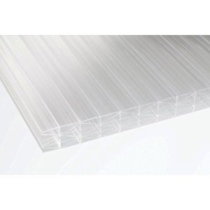 25mm Clear Multiwall Polycarbonate Sheet - 6000 x 700mm
