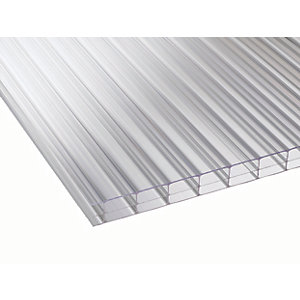 16mm Clear Multiwall Polycarbonate Sheet - 2500 x 2100mm