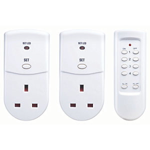 Masterplug Remote Controlled Socket Adaptors - Pack of 2
