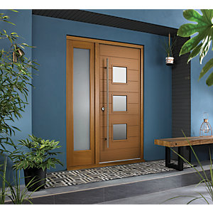 JCI Ultimate Door Frame with Single Side Light Oak