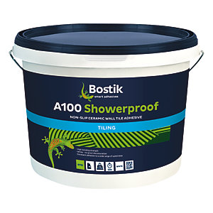 Bostik Non-Slip Ready Mixed Showerproof Tile Adhesive A100 - 15L