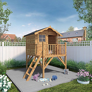Mercia 7 x 5 ft Timber Poppy Playhouse with Tower