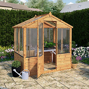 Mercia 4 x 6ft Wooden Apex Greenhouse