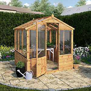 Mercia 6 x 6ft Wooden Apex Greenhouse