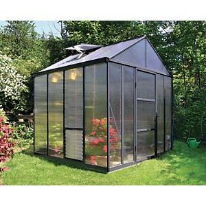 Palram Canopia 8 x 8ft Glory Aluminium Apex Greenhouse with Polycarbonate Panels