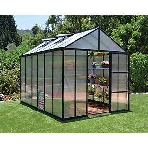 Palram Canopia 8 x 12ft Glory Large Aluminium Apex Greenhouse with Polycarbonate Panels