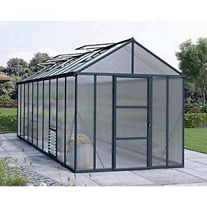 Palram Canopia 8 x 20ft Glory Long Aluminium Apex Greenhouse with Polycarbonate Panels