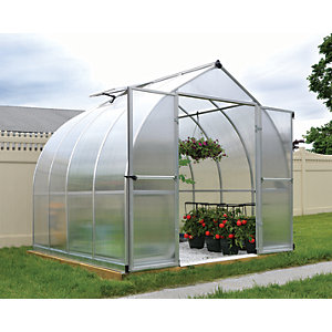 Palram Canopia 8 x 8ft Bella Aluminium Bell Shaped Greenhouse with Polycarbonate Panels