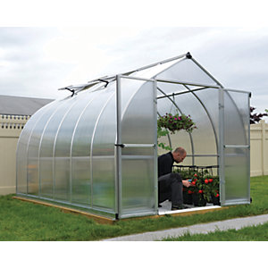 Palram Canopia 8 x 12ft Bella Aluminium Bell Shaped Greenhouse with Polycarbonate Panels