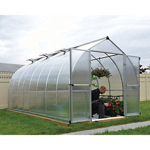 Palram Canopia 8 x 16ft Bella Long Aluminium Bell Shaped Greenhouse with Polycarbonate Panels