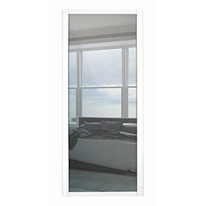 Spacepro 1 Panel Shaker White Frame Mirror Door
