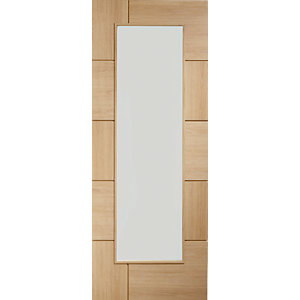 XL Joinery Ravenna Fully Glazed Oak 10 Panel Pre Finished Internal Door - 1981mm x 762mm