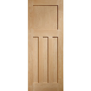 XL Joinery Dx Oak 4 Panel Internal Fire Door - 1981mm x 762mm