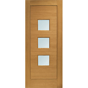 XL Turin Exteranl Oak Right Handed Fully Finished Door Set 2067 x 926mm
