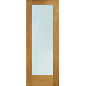 XL Pattern 10 External Oak Right Handed Fully Finished Door Set 2067 x 926mm