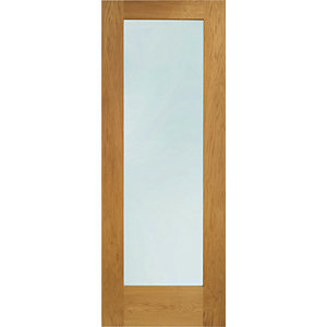 XL Pattern 10 External Oak Left Handed Fully Finished Door Set 2067 x 926mm