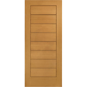 XL Modena External Oak Left Handed Fully Finished - Door Set 2067 x 926mm