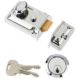Yale Essentials Yes-nl-ch Night Latch Deadlock - Chrome