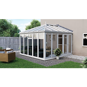 Euramax Edwardian Glass Roof Full Glass Modern Conservatory - 10 x 8 ft