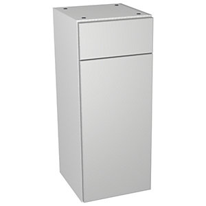 Wickes Vienna Grey Gloss Drawerline Floorstanding Storage Unit - 300 x 735mm