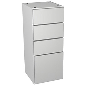 Wickes Vienna Grey Gloss Multi-drawer Floorstanding Storage Unit - 300 x 735mm