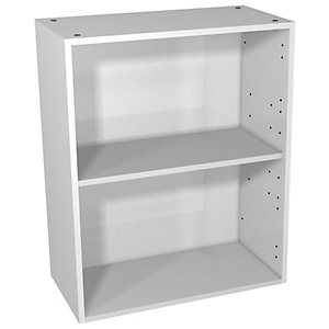 Wickes Vienna Grey Gloss Floorstanding or Wall Open Storage Unit - 600 x 735mm