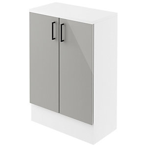 Wickes Vienna Grey Gloss Floorstanding Storage Unit - 600 x 735mm