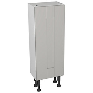 Wickes Vermont Grey On White Compact Floorstanding Or Wall Storage Unit - 300 x 735mm