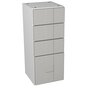 Wickes Vermont Grey On White Multi - Drawer Floorstanding Storage Unit - 300 x 307mm