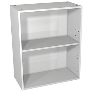 Wickes Vermont Grey On White Floorstanding or Wall Open Storage Unit - 600 x 735mm