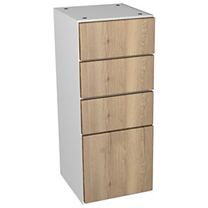 Wickes Vienna Oak Multi-drawer Floorstanding Storage Unit - 300 x 735mm