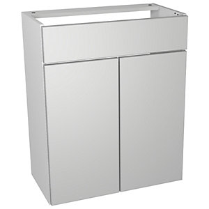 Wickes Vienna Grey Gloss Floorstanding Vanity Unit - 600 x 735mm
