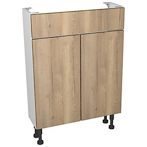 Wickes Vienna Oak Compact Floorstanding Vanity Unit - 600 x 735mm