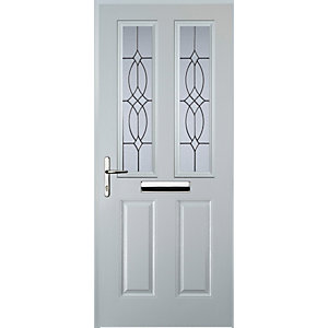 Euramax 2 Panel 2 Square White Right Hand Composite Door