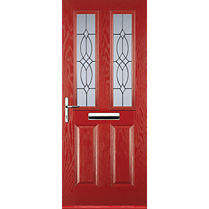 Euramax 2 Panel 2 Square Red Right Hand Composite Door