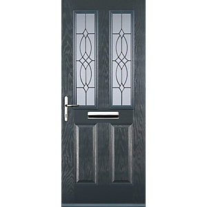 Euramax 2 Panel 2 Square Grey Right Hand Composite Door