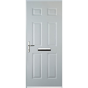 Euramax 6 Panel White Right Hand Composite Door