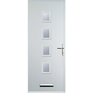 Euramax 4 Square White Left Hand Composite Door