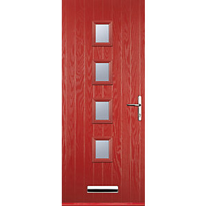 Euramax 4 Square Red Left Hand Composite Door