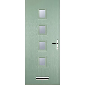 Euramax 4 Square Chartwell Green Left Hand Composite Door
