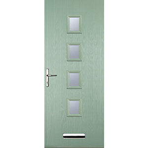 Euramax 4 Square Chartwell Green Right Hand Composite Door